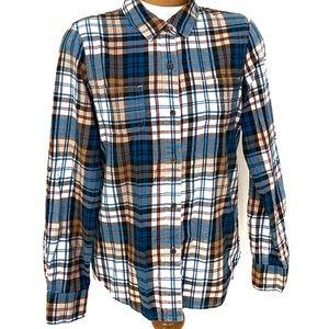 The North Face Castleton Plaid LS Cotton Shirt M